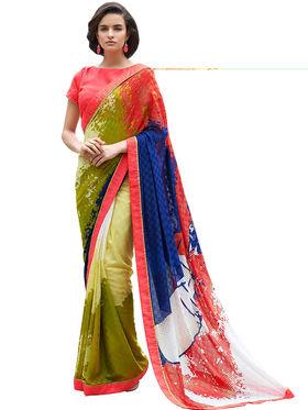 Nanda Silk Mills Fancy Printed Saree_Sap-309