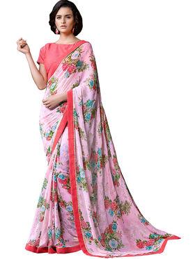 Nanda Silk Mills Fancy Printed Saree_Sap-311