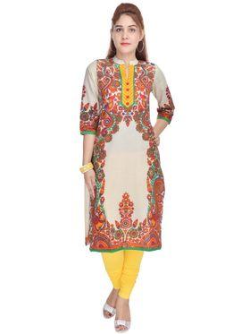 Shop Rajasthan 100% Pure Cotton Printed Kurti - Multicolor - SRE2261