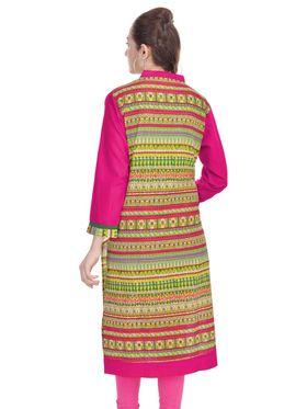 Shop Rajasthan 100% Pure Cotton Printed Kurti - Multicolor - SRE2312