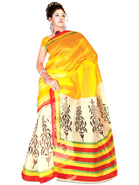 Shreya Collection of 3 Georgette, 2 Art Silk & 2 Kota Doria Sarees