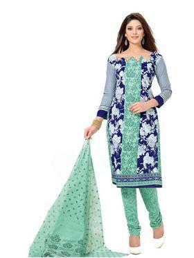 Silkbazar Printed Cotton Dress Material - Multicolour - SB-1577