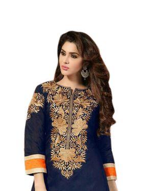 Thankar Semi Stitched  Georgette Embroidery Dress Material Tas268-1034
