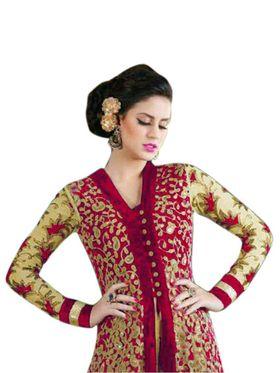 Thankar Semi Stitched  Net Embroidery Dress Material Tas273-4605C
