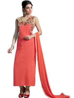 Thankar Semi Stitched  Heavy Laycra Embroidery Dress Material Tas274-23006
