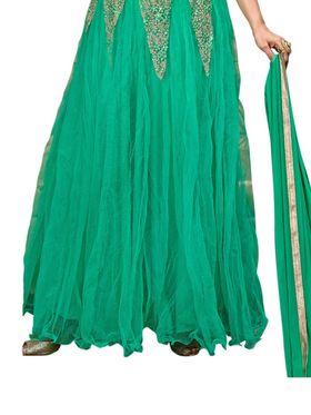 Thankar Semi Stitched  Silky Net Embroidery Dress Material Tas278-14011