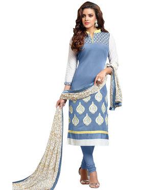 Thankar Semi Stitched  Cotton Embroidery Dress Material Tas281-104Dm