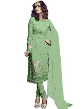 Thankar Semi Stitched  Georgette Embroidery Dress Material Tas282-2157