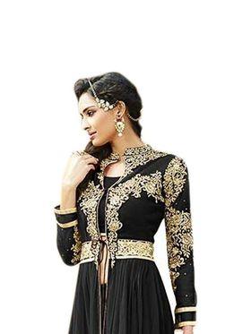 Thankar Semi Stitched  Georgette Embroidery Dress Material Tas285-711C