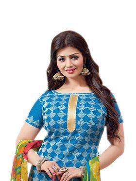 Thankar Semi Stitched  Cotton Embroidery Dress Material Tas288-2405