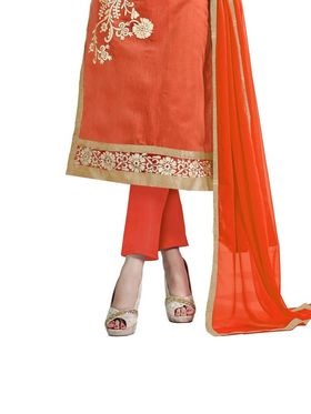 Thankar Semi Stitched  Chanderi Cotton Embroidery Dress Material Tas290-5307F