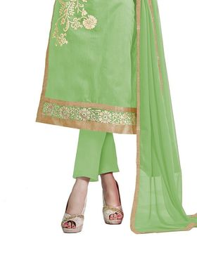 Thankar Semi Stitched  Chanderi Cotton Embroidery Dress Material Tas290-5307H
