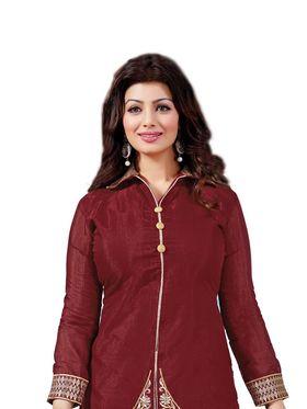 Thankar Semi Stitched  Chanderi Cotton Embroidery Dress Material Tas291-5301