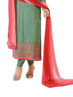 Thankar Semi Stitched  Pure Georgette Embroidery Dress Material Tas299-3216