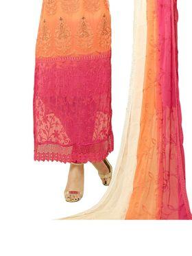Thankar Semi Stitched  Chiffon Embroidery Dress Material Tas301-1969