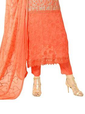 Thankar Semi Stitched  Chiffon Embroidery Dress Material Tas301-1977