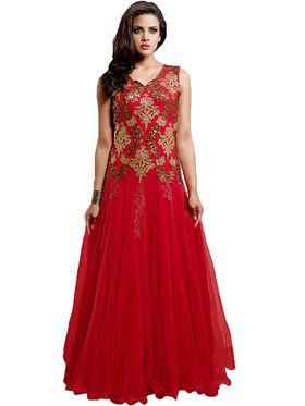 Thankar Semi Stitched  Net Embroidery Dress Material Tas305-9070