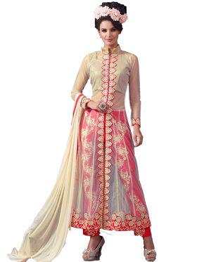 Thankar Semi Stitched  Net Embroidery Dress Material Tas305-9071