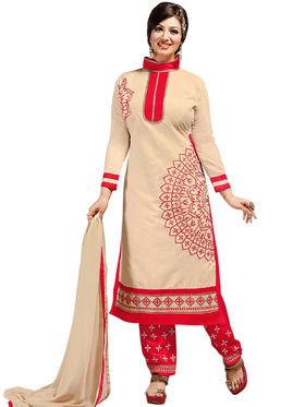 Thankar Semi Stitched  Chanderi Silk Embroidery Dress Material Tas308-6102