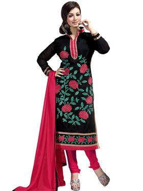 Thankar Semi Stitched  Chanderi Silk Embroidery Dress Material Tas308-6105