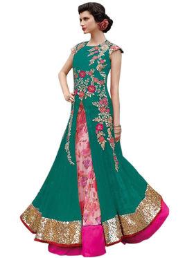 Thankar Semi Stitched  Mono Net Embroidery Dress Material Tas312-5102