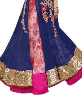 Thankar Semi Stitched  Mono Net Embroidery Dress Material Tas312-5104
