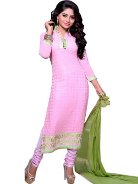 Thankar Embroidered Georgette Semi-Stitched Suit -Tas319-25005