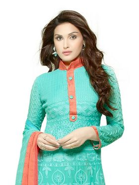 Thankar Embroidered Pure Chiffon Semi-Stitched Suit  -Tas334-2145