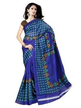 Pack of 2 Thankar Printed Bhagalpuri Saree -Tds137-205.206
