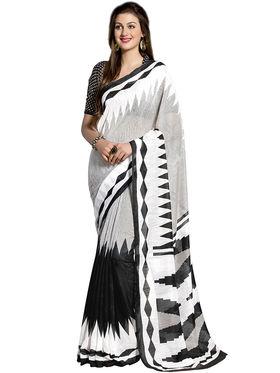 Triveni's Art Silk Printed Saree -TSHRMD2704