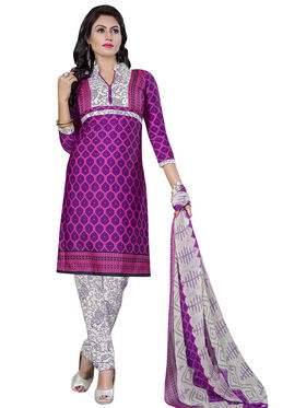 Triveni's Crape Printed Dress Material -TSLCSK9106