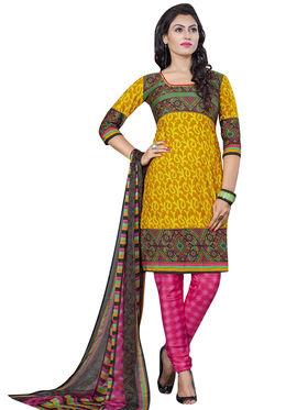 Triveni's Crape Printed Dress Material -TSLCSK9118