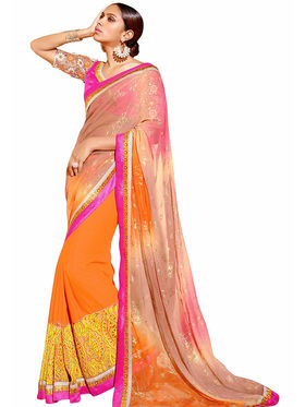 Triveni's  Georgette Border Work Saree -TSN97029