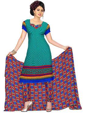 Triveni's Polyester Printed Dress Material -TSSTPMSK10002