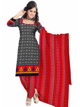 Triveni's Polyester Printed Dress Material -TSSTPMSK10007