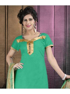 Viva N Diva Cotton Lace Work Embellished Unstitched Suit Tanaz-109