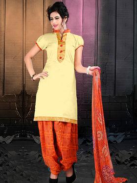 Viva N Diva Cotton Lace Work Embellished Unstitched Suit Tanaz-111