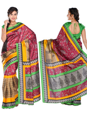 Tripti Set of 7 Art Silk Sarees by Varanga