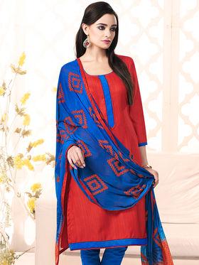 Viva N Diva Bhagalpuri Silk Embellished Unstitched Suit Utsav-5007