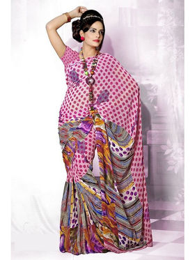 Variation Georgette Printed Saree -VD13795