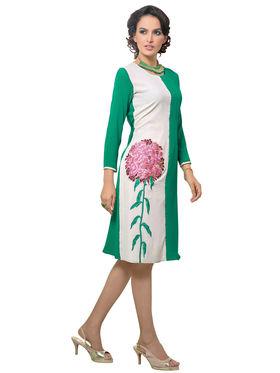 Viva N Diva Georgette Floral Embroidery Kurtis -Vnd Vol 03-1019