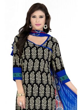 Khushali Fashion Crepe Printed Dress Material With Two Top -Vrmgev25025