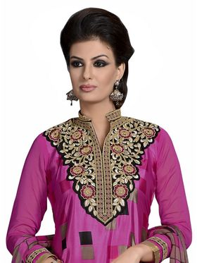 Khushali Fashion French Crepe Embroidered Dress Material -Vrvmtr6005