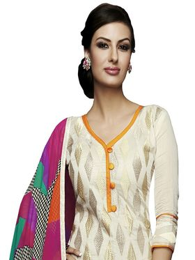 Khushali Fashion Chanderi Embroidered Unstitched Dress Material -VSIDC451014