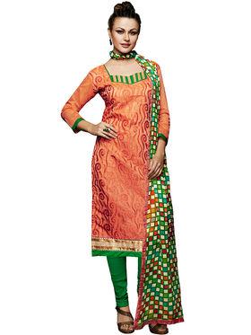 Khushali Fashion Chanderi Embroidered Unstitched Dress Material -VSIDC451016