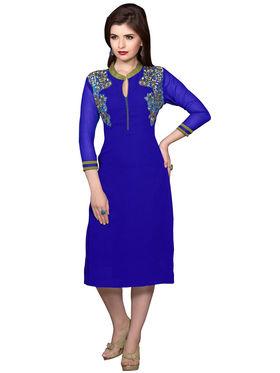 Khushali Fashion Georgette Embroidered Stitched Kurti -Vt2107