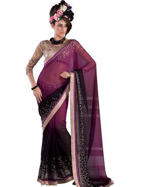 Viva N Diva Georgette Embroidered Saree Vanisha-2150