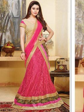 Viva N Diva Net Embroidered Lahenga - Pink