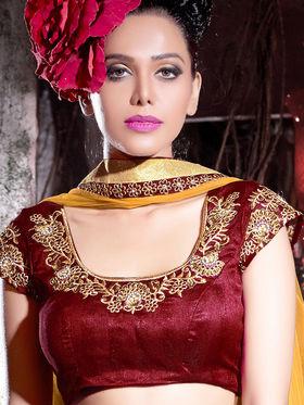 Viva N Diva Net Embroidered Lehenga - Maroon