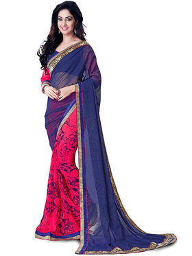 Nanda Silk Mills Fancy Print &Georgette  Party Wear Saree_WOMANIYA-3807